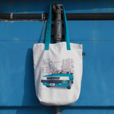 Blue Taxi Tote Bag