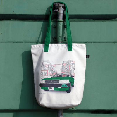 Green Taxi Tote Bag