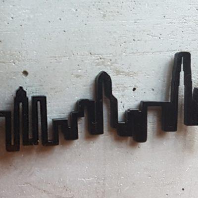 Hong Kong HeartBeat Skyline Black Finish